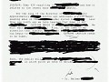 Blacked Out Memorandum