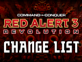 Red Alert 3: Revolution Change List