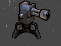 Sentry gun modeled and animated