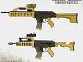 The ABEL assault rifle, Genesis FPS environment