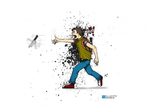 Zombie Slice hero concept art