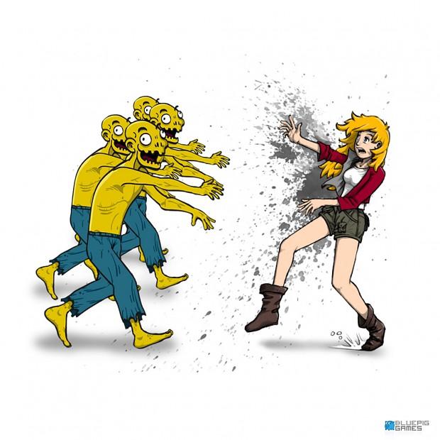 Zombie Slice Zoe concept art