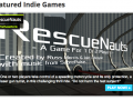 RescueNauts is GameJolt's 'Featured Game' / Leaderboard update