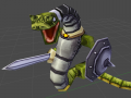 """Animating the """"Run""""-Cycle of a Snake Warrior"""