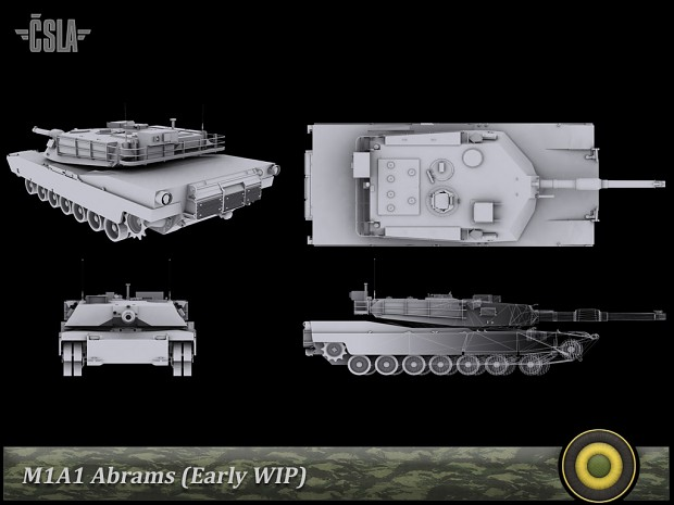 New model of M1A1 Abrams