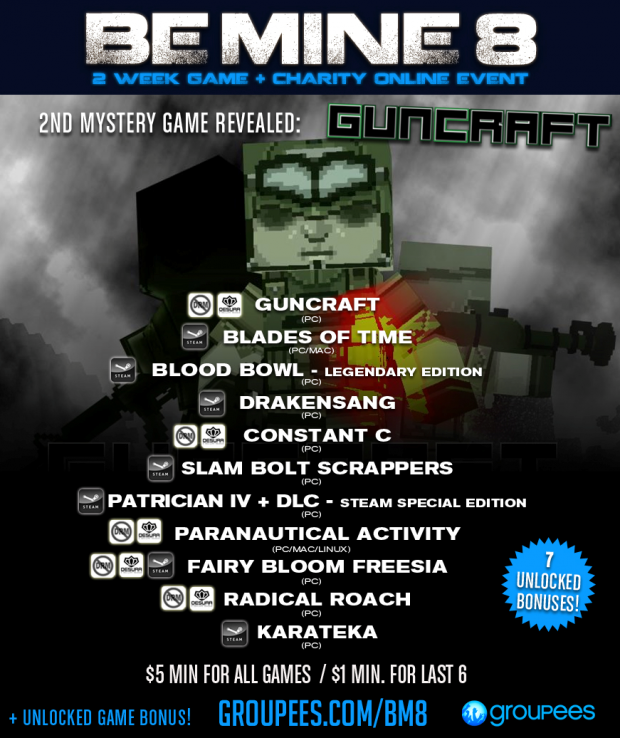Guncraft in Groupees Be Mine 8!
