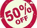50 % OFF SALE, don't miss it