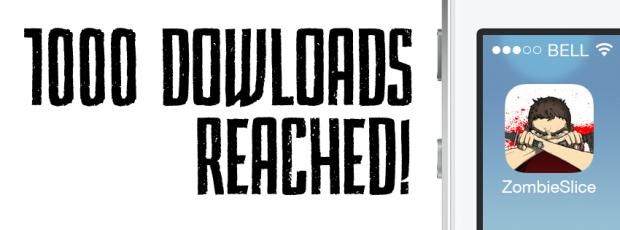 Zombie Slice! One Thousand Downloads!