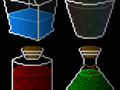 Procedural graphics, items, external lightning, and bottles of blood.