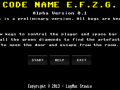 Code Name E.F.Z.G. - Demo available for download