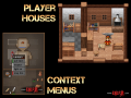 Player houses and item menus