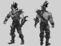 Concept art of the new armors