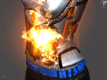 I set the player on fire!