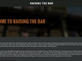 Raising the Bar Website is Live