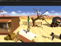 Paper Cowboys L1 WIP Walkthrough, Enemies and Explosions!