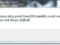 the procedure entry point direct3dcreate9ex could not be located