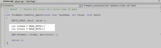 Half-life1 Coding: More than 254 of ammo