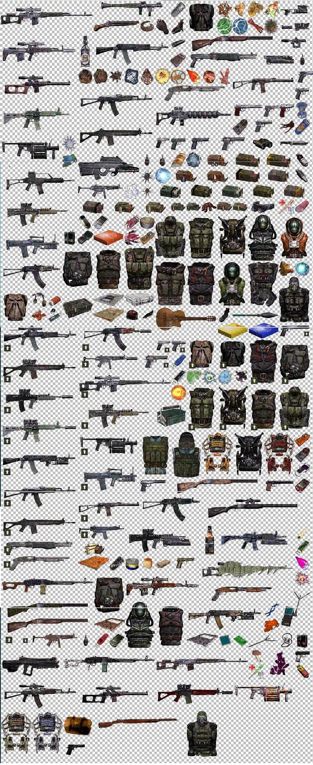 List of equipment in Yoctosfera mod v 2.0