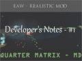 Developer's Notes - #1