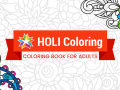 Coloring book for adults and Kids #HoliColoring