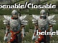 Openable/Closeable helmets
