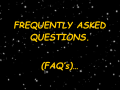 FREQUENTLY ASKED QUESTIONS (FAQ's)/TROUBLESHOOTING: