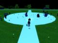 Blue's Team VS Red's Team at night