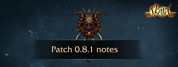 Patch 0.8.1 Notes