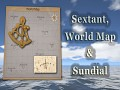 Lost in Pacific - Sextant, World Map and SunDial