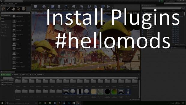 Install plugin #hellomods