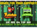 "Thanks to you all, we've enter on ""2017's Indie of the Year"" Top 100!"