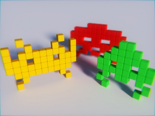 How to make space invaders (Classic Arcade) game in BGE. and python programming