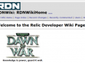 Old RDN Wiki and old DOW info back online