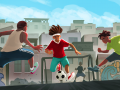 Footballer's life in the neighborhood