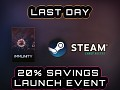 Last Day For Steam 20% Discount Immunity!