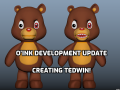 O'ink Update: Modeling, texturing, and rigging Tedwin!