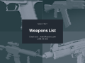 Weapons List of War of Kosovo: 2033