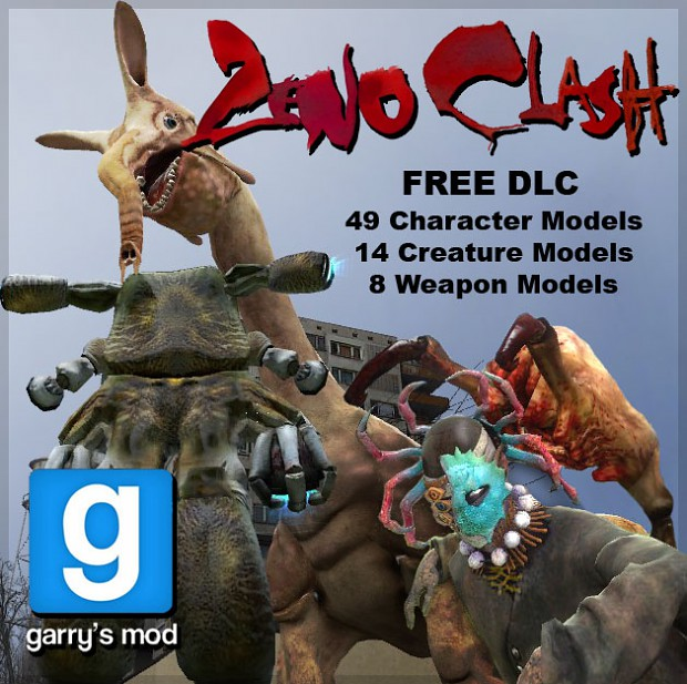 Zeno Clash releases Garry's Mod model pack