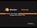 BGE Blender Game Physics Falling Domino Tutorial
