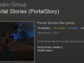 Portal Stories : Now with a steam group