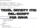 Maya: Texel Density (TD) tutorial