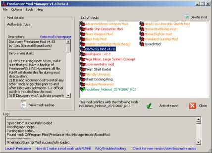 Freelancer Mod Manager 1.31
