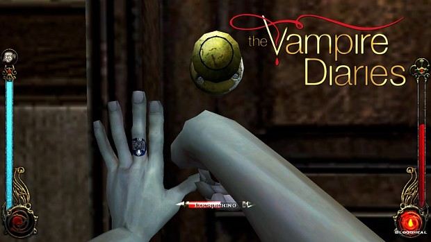 New Male Hands with The Vampire Diaries Ring