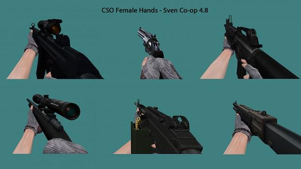 CSO Female Hands - Sven Co-op 4.8 Weapons