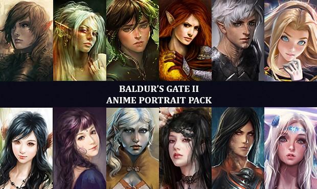 Anime Portrait Pack Baldur's Gate II