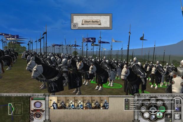 "Gondor ""Marka"" barded horses submod for MOS 1.7"