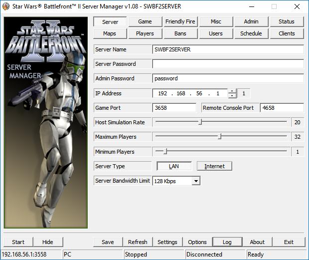 Star Wars: Battlefront II v1.1 Dedicated Server