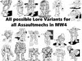 Lore Variant Pack: Assault V1