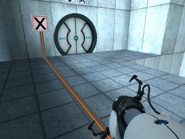 Portal Beta Button Connection Trail Lines