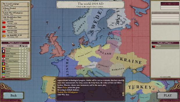 Victoria 2 : Turkish War of Independence Scenario